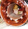 re-winding of stator